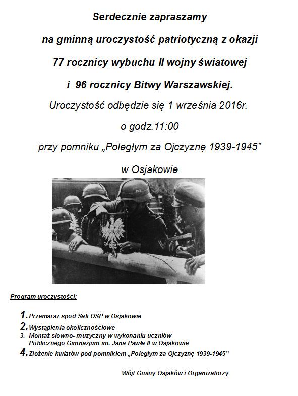 2016 08 03 rocznca wybuchu wojny - 77. rocznica wybuchu II wojny światowej i96. rocznica bitwy warszawskiej