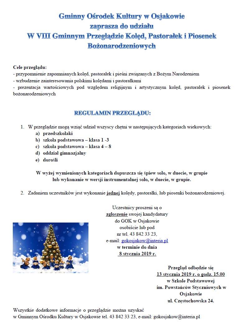 2018 12 przeglad 02 - VIII Gminny Przegląd Kolęd, Pastorałek iPiosenek Bożonarodzeniowych