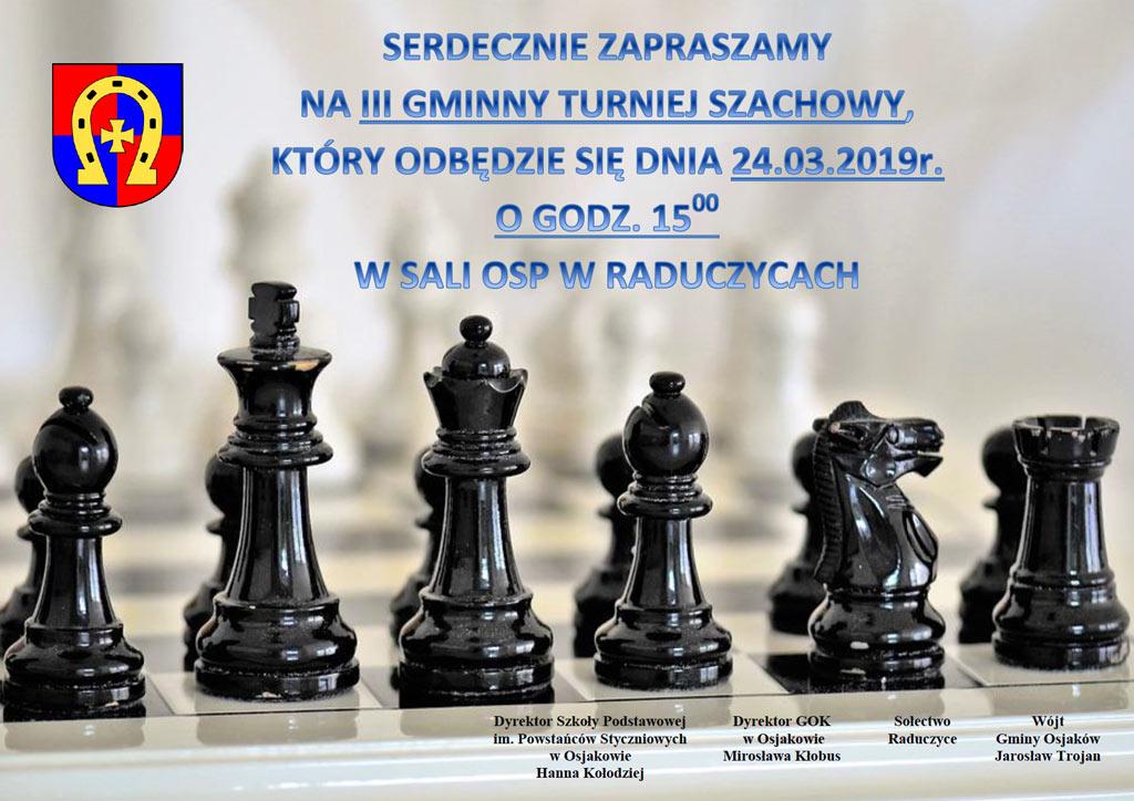 2019 03 turniej szachowy - III Gminny Turniej Szachowy