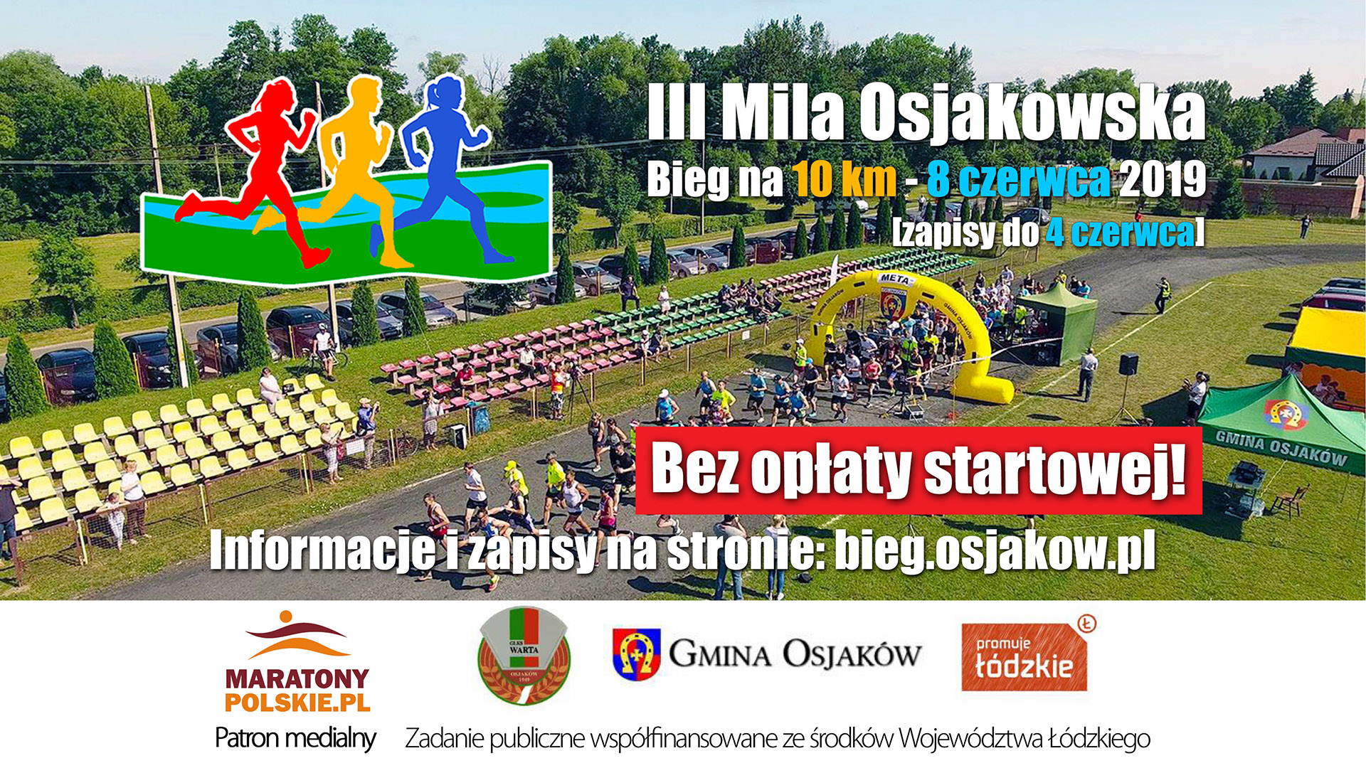 2019 06 08 plakat 2 mila 1920x1080 - III Mila Osjakowa - bieg na10 km