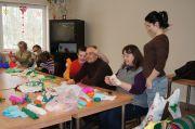 Warsztaty twórcze w GOK wychowanków Specjalnego Ośrodka Szkolno-Wychowawczego w Gromadzicach