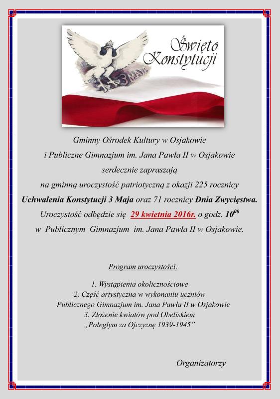 2016 04 12 konstytucja 3 maja - Rocznica uchwalenia konstytucji 3 maja