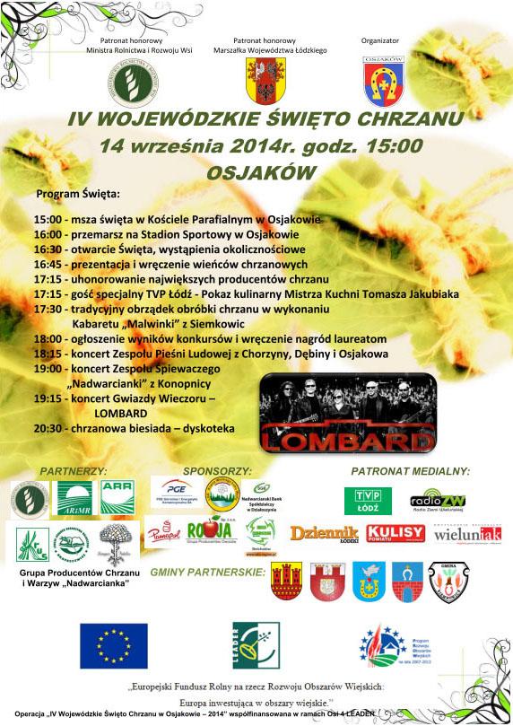 Plakat IV Wojewódzkiego Święta Chrzanu